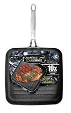 "Granite Stone Diamond 10.5"" Non-Stick Triple-Coated Grill Pan – As Seen on TV!"