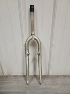 """4130 Cr-Mo Steel Bike Fork 26"""" 1"""" Threaded Steer Tube V-Brake"""