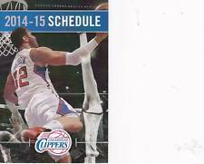 Los Angeles Clippers NBA Mini Pocket Schedule 2014-2015 Blake Griffin 2