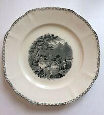 "VTG 8.25"" Plate Dish LANDSCHAP Societe Ceramique Maestricht Transfer HOLLAND"