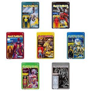 ***LOT OF 7*** Iron Maiden Super7 ReAction Figures Complete Wave 2 Set