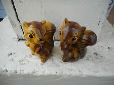 Pair Vintage Squirrel Salt Pepper Shakers Made in Japan