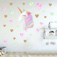 Wall Sticker Unicorn Home Decor Decal Girls Bedroom Nordic Style Nursery Decor