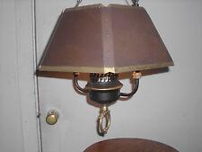 "Vintage Ceiling Light Lamp Chandelier with Metal Shade - 13"" Diameter"