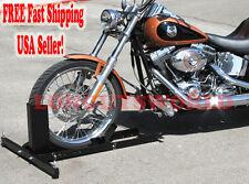 MOTORCYCLE STAND WHEEL CHOCK PIT TRAILER STOP HARLEY DAVIDSON CRUISER SPORTBIKE