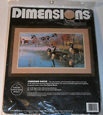 Dimensions Crewel Embroidery Kit Canadian Geese by Darrell Bush 1994