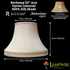 Interiors 1900 Rochamp Ann 20in Oyster Bowed Drum Honey Pleated Band Silk Shade