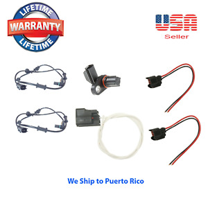 ABS Speed Sensor Front R/L & In Differential W connector Fit RAM 1500, 2500, RWD