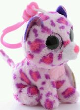 TY PELUCHE LEOPARDO Purple Leopard Plush Pupazzo Portachiavi Keychain Beanie Toy