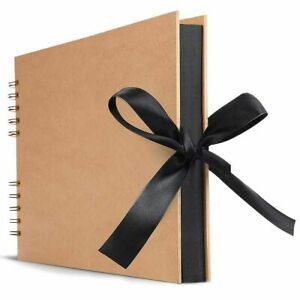 Photo Albums 80 Black Pages Memory Books A4 Craft Paper DIY Picture Scrapbooking