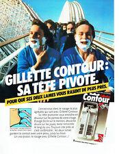 Publicité Advertising 078  1983    rasoir Gillette Contour tete pivotante