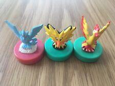 Pokemon Vintage Inking Stamp Lot Of 3 Articuno Zapdos Moltres Japan RARE Bandai