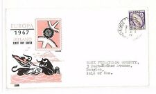 BG126 1967 IRELAND Cork ISLE OF MAN *EUROPA* FDC