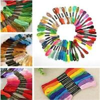 50pcs Cotton Cross Floss Stitch Thread Embroidery Sewing Skeins Multi Colors WT
