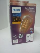 PHILIPS ST19 Amber Dimmable Smart Wifi WIZ App Wireless 40W Filament  Light Bulb