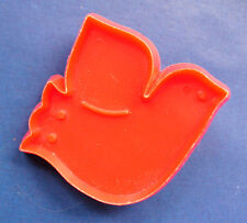 BUY1&GET1@50%~Hallmark COOKIE CUTTER Christmas DOVE OF PEACE Red Vtg HARD~MINI