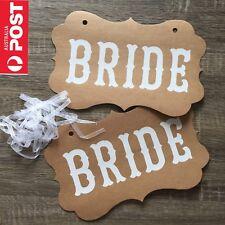 Bride & Bride Same Sex Marriage Sign Wedding Chair Hanging Prop Photo Decoration