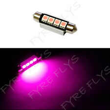 1 Hot Pink 42mm Canbus Error Free LED Bulbs Dome Map Cargo Light W5x1