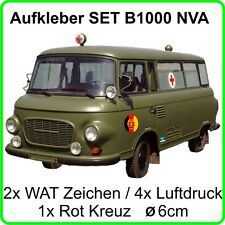 Aufkleber Set für Barkas  B1000 Bus ohne Emblem NVA DDR