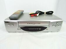 SANYO VWM-696 VCR 4 Head Hifi VHS Player Recorder With Universal Sanyo Remote