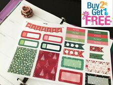 PP168-- 23pcs Red and Green Winter Kit Life Planner Stickers for Erin Condren