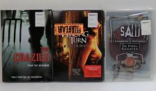 3 DVD collection THE CRAZIES - WRONG TURN 3 - SAW FINAL CHAPTER new SEALED