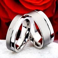 Verlobungsringe aus Edelstahl mit echten Diamant EB052