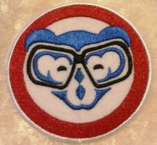 "Chicago Cubs 3"" Iron On Cub w/Glasses Embroidered Patch ~FREE SHIP!~"