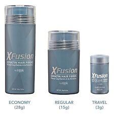XFusion Keratin Hair Fibers - Black / Dark Brown / Medium Brown / Light Brown