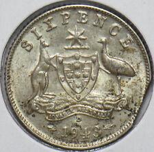 Australia 1943 6 Pence Kangaroo animal Ostrich Georgivs VI 902091 combine shippi