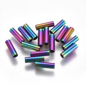 10pcs 304 Stainless Steel Tube Beads Smooth Mini Metal Loose Spacer Beads 4~25mm