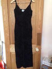 Long Black Lipsy Dress - M/L Medium/Large - Strappy Stretchy Full Length - Exc