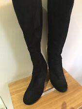 Long Black Suede Boots Size 6