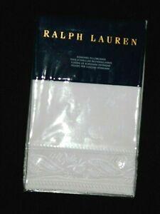 Ralph Lauren Katrine White embroidered Standard Pillowcases set retail $115