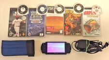 Sony PSP-2000, Charger, 5 Games, and Case: an 8 piece Lot Bundle!