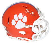 Dexter Lawrence Autographed/Signed Clemson Tigers Speed Mini Helmet JSA 24944