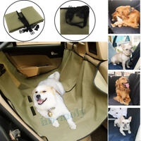 Waterproof Car For Dog Seat Cover Hammock Cat Pet Travel Back Rear Bench Green