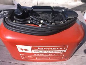 Beautiful Original Johnson Outboard Gas Fuel Pressure Tank Basement Find
