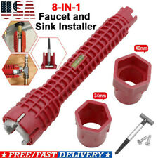 Multifunction 8-In-1 Faucet & Installer Wrench Plumbing Pipe Spanner Sink Tools