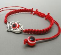 Lucky Unisex Red Kabbalah String Handmade Bracelet Hamsa Evil Eye Adjustable New