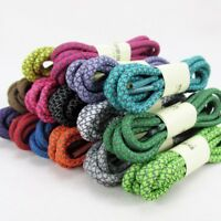 Woven Shoelaces Unisex Round Shoe Laces Reflective Strings Casual Sport Bootlace