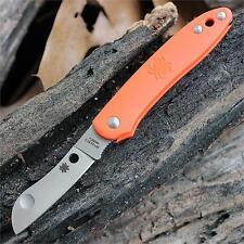 Couteau Spyderco Roadie Orange Lame Acier N690Co Manche FRN Made Italy SC189POR