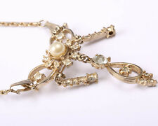 Vintage 1930s Necklace with Brooch Pendant