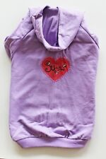 "Dog Puppy Clothes Embellished Hoodie Shirt Sweatshirt M Medium 15-17"" Back"