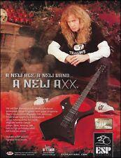 Megadeth Dave Mustaine Signature ESP AXXION guitar ad 8 x 11 advertisement print
