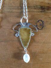 Art Nouveau Style pendant necklace Sterling Silver.