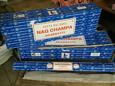 Lote 2 Cajas Nag Champa largo, 12 tubos x 50 gr.  600 gr
