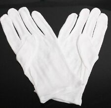 White Cotton Gloves for Housework Workers With Knits 5 pairs
