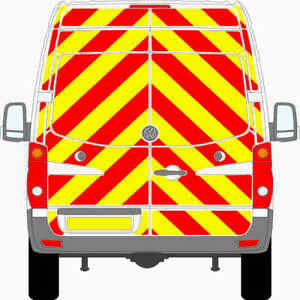 VW CRAFTER VAN 2006-2016 PRISMATIC FULL CHEVRON KIT CHAPTER 8 REFLECTIVE