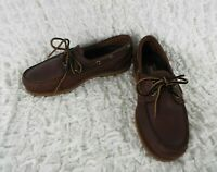 Timberland 2-Eye Boat Shoes Brown Leather Men's Size 8 M